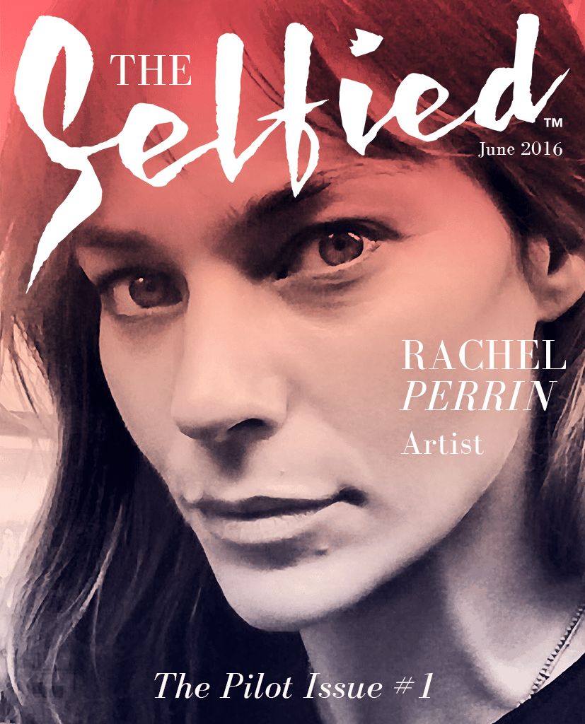Rachel Perrin artist and painter on the cover of The Selfied