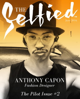 Anthony Capon, A Fashion Designer Selfie on the cover of The Selfied Magazine