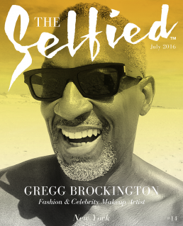 Gregg Brockington Fashion Celebrity Make Up Artist on the beach for The Selfied Magazine