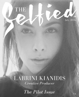 A selfie pic of Labrini kianidis, A hong kong based creative producer on the cover of The Selfied magazine