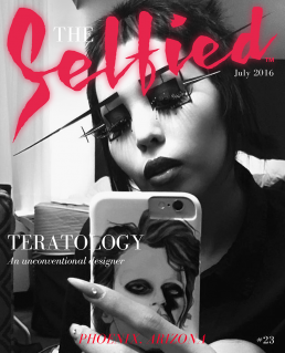 Maren Bailey, Teratology wearing her three dimensional make up on the cover of The Selfied