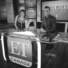 Misty Fox on the set of ET Canada