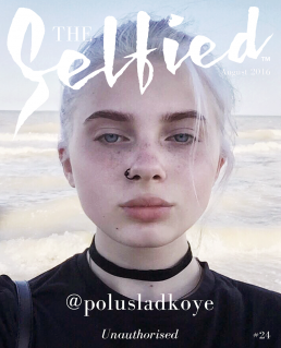 a selfie of polusladkoye, instagrammer at the beach