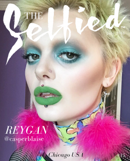 Reygan casperblaise ghost girl selfie on the cover of The Selfied Magazine