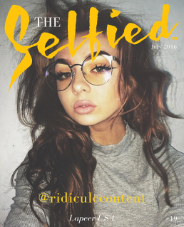 Ridiculecontent, An instagrammer selfie for the front cover of The Selfied Magazine