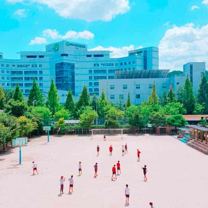 A Basketball field in south Korea
