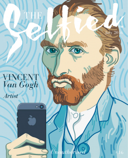Vincent van Gogh painter self portrait for the cover of The Selfied