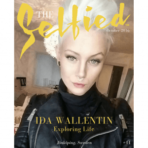 A selfie of Ida Wallentin wearing a black leather jacket