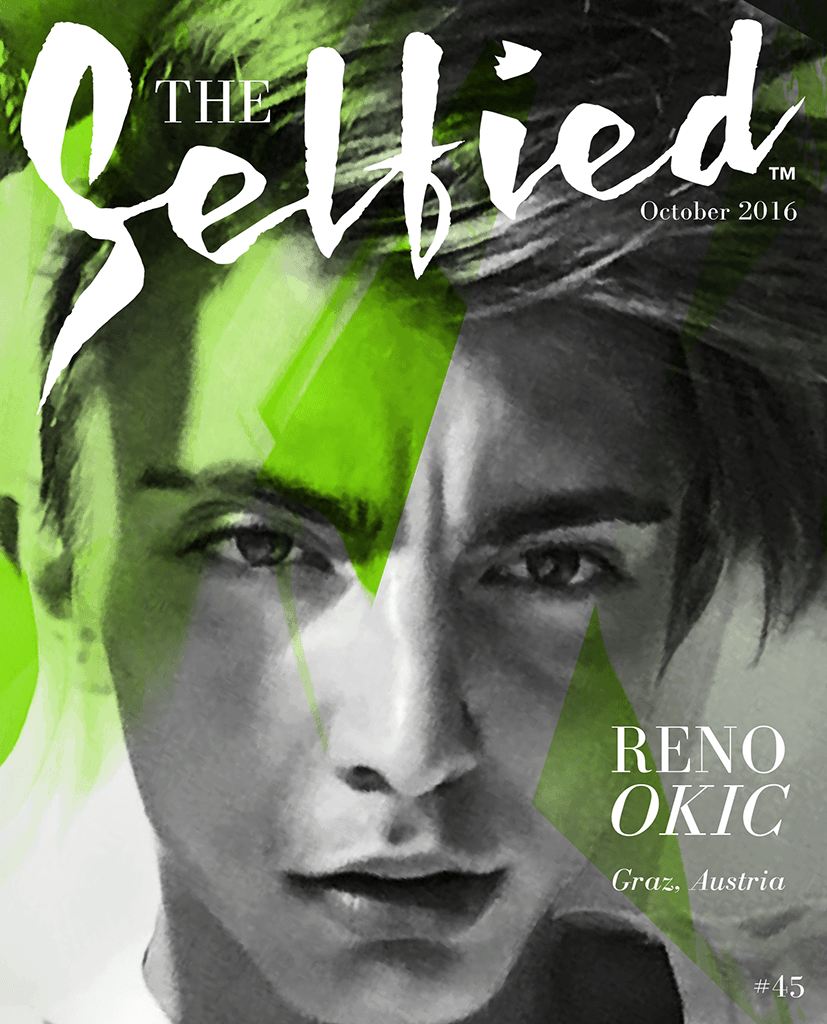 A selfie portrait of Reno Okic for The Selfied Magazine
