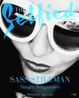 Selfie by singer songwriter Sass Stileman for the cover of The Selfied