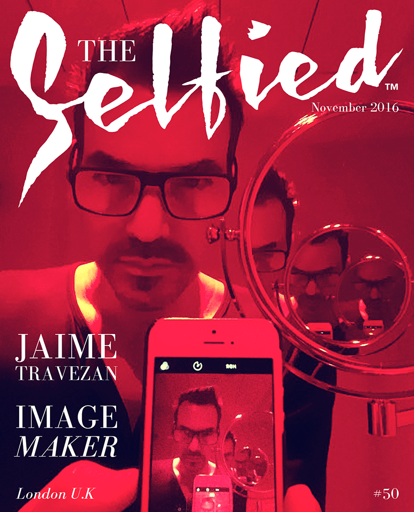 A selfie by image maker Jaime Travezan for the cover of The Selfied Magazine