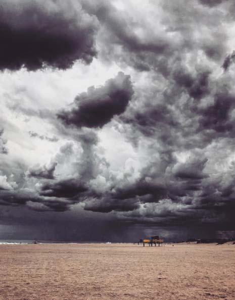 A stormy seaside sky photo by Diego Rodriguez.