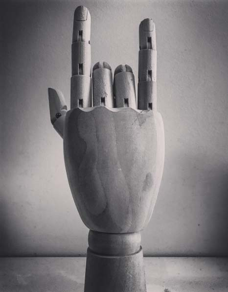 A black and white rebel hand photo by Diego Rodriguez.