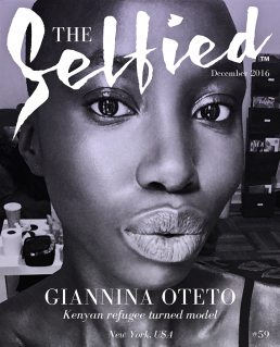 A selfie by Giannina Oteto on the cover of the selfied