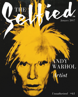Andy Warhol on the cover of The Selfied Magazine