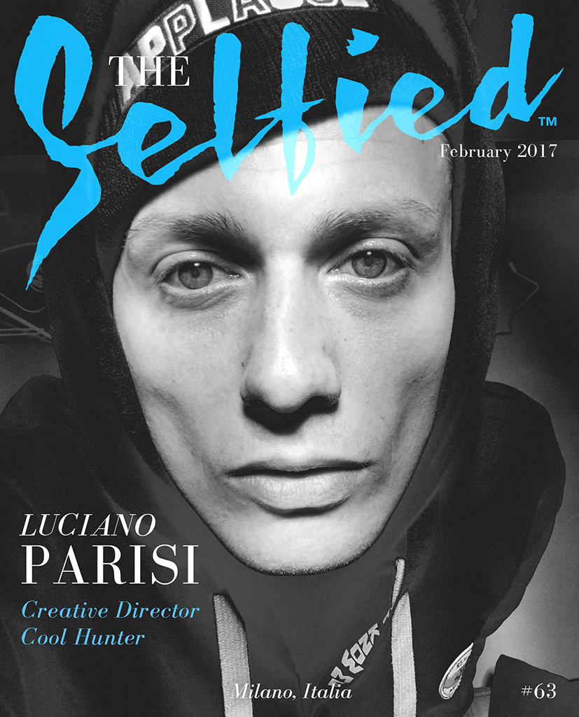 A selfie by Creative Director and Cool Hunter Luciano Parisi for the cover of The Selfied Magazine