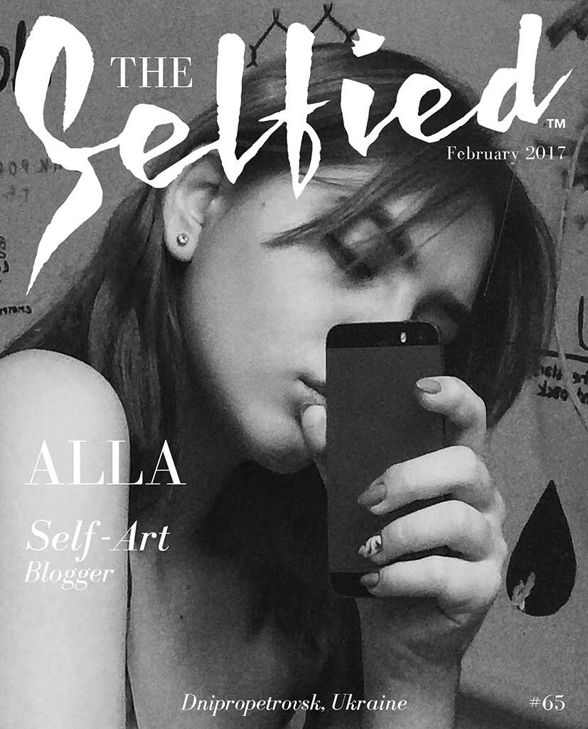Alla, Self Art blogger from the Ukraine on the cover of The Selfied Magazine