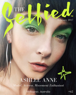 Ashlee Ann, Model Actress, Movement enthusiast on the cover of The Selfied