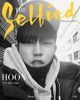 A selfie portrait of Hoon, A student from South Korea