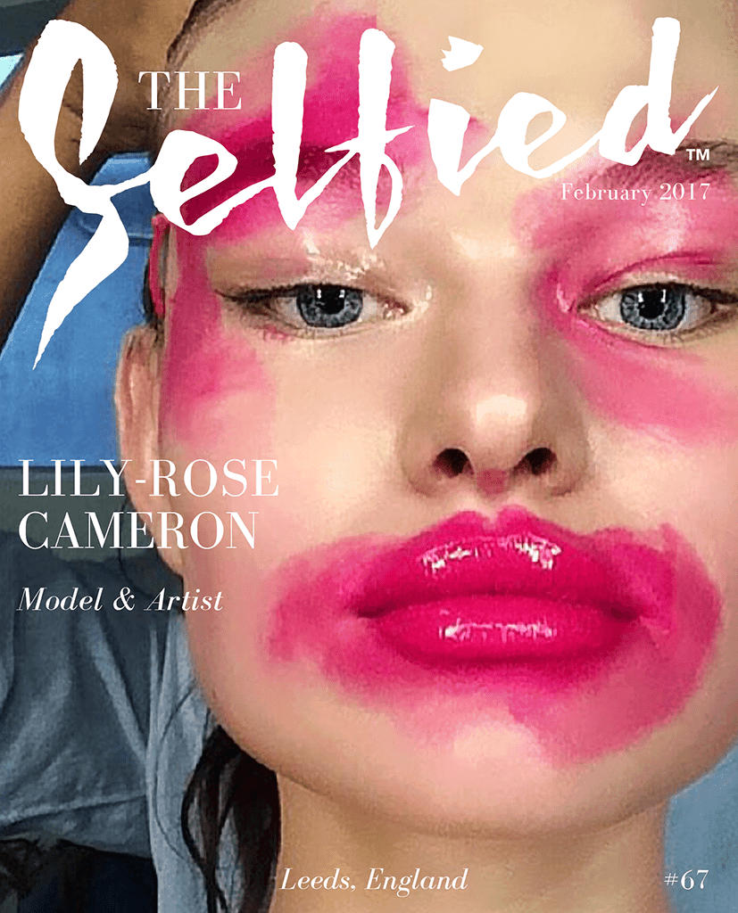 A selfie portrait of model Lily-Rose Cameron on the cover of The Selfied magazine