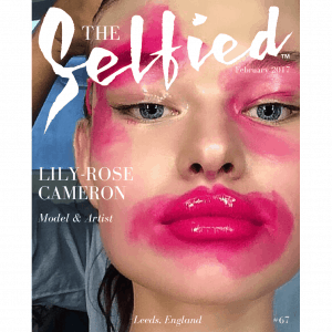 A selfie portrait of Lily-Rose Cameron on the cover of The Selfied magazine