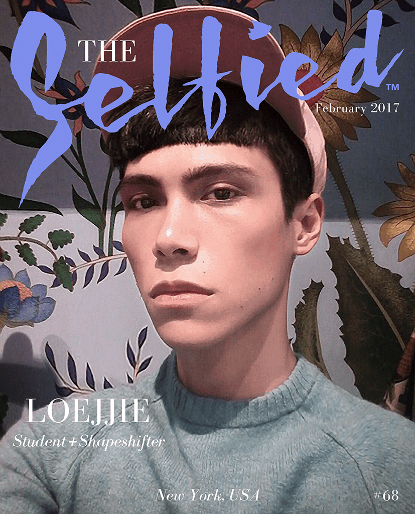 A selfie by Loejjie, A student and Shapeshifter, for the cover of The Selfied magazine
