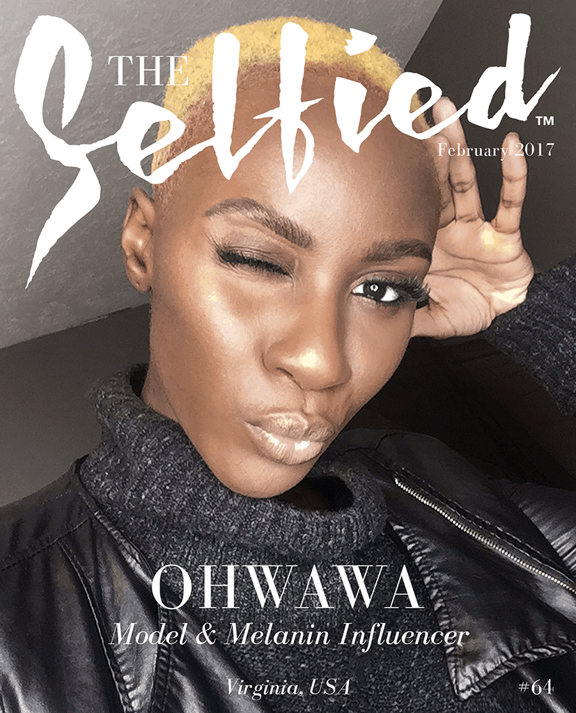 Model and influencer, Ohwawa on the cover of The Selfied magazine