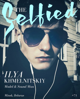 A Selfie by Ilya Khmeinitskiy on the cover of The Selfied magazine, modelling.