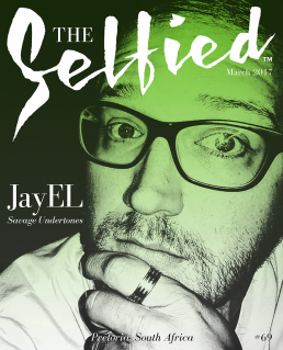 A Selfie of creative thinker and lecturer JayEL on the cover of The Selfied