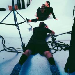 A studio Fashion photo shoot for VICE Magazine