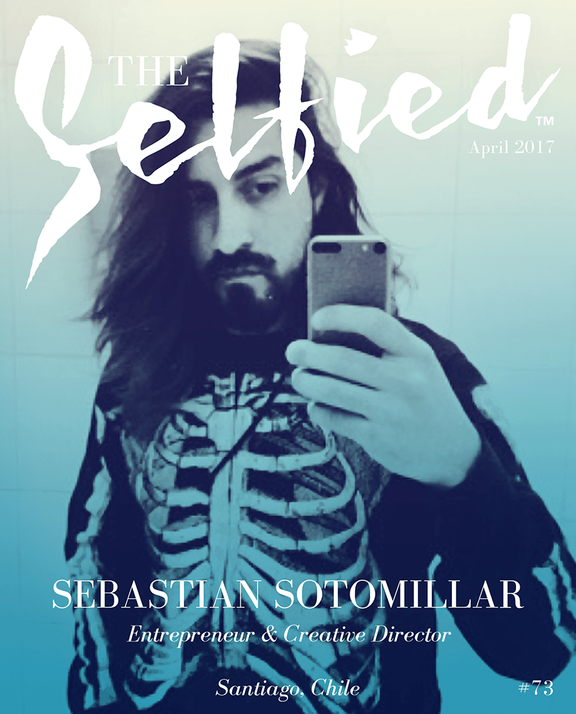 A Selfie of Sebastian Sotomillar Entrepreneur and Creative Director on the cover of The Selfied magazine