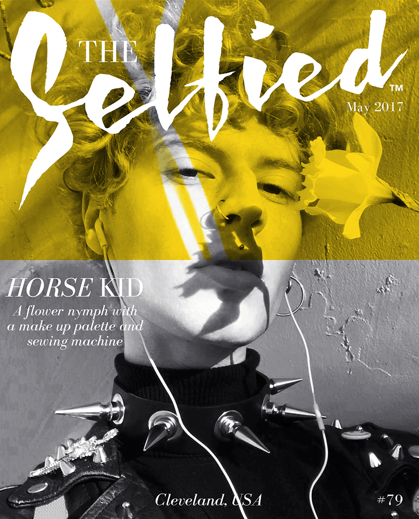 Horse Kid, artist, Selfie picture on the cover of The Selfied magazine