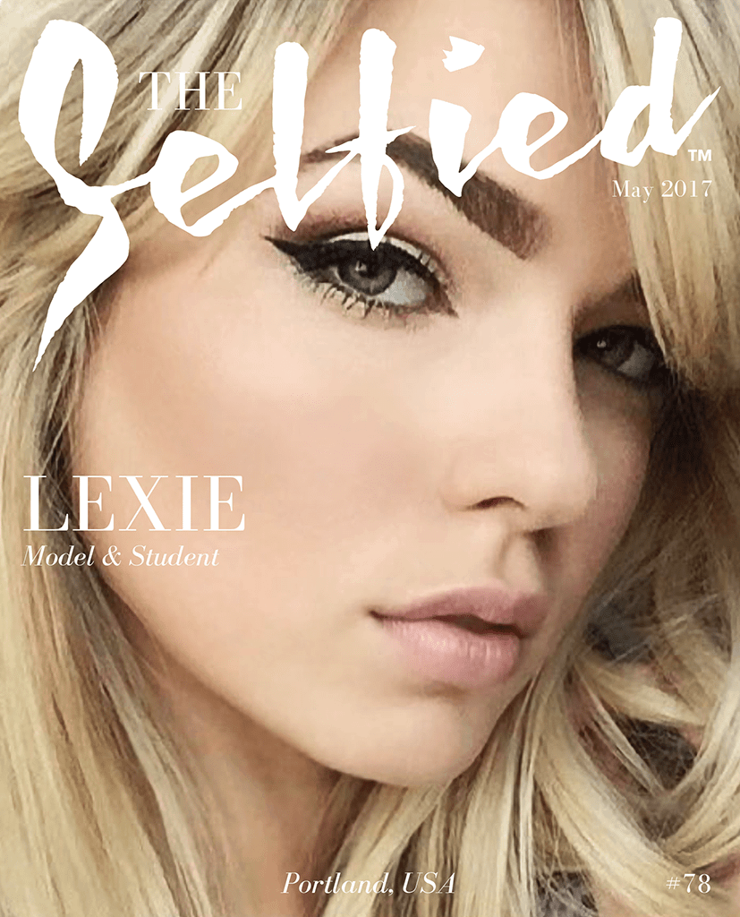 A selfie pic of model Lexie Elston on the cover of The Selfied magazine