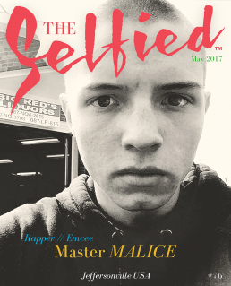 Rapper and Emcee Master Malice Selfie on the cover of The Selfied magazine