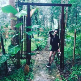 Artist, designer, model, Tatiana in the jungle in Thailand