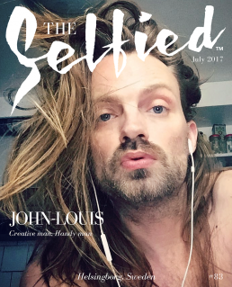 Jean-louis, creative man, Selfie, on the cover of The Selfied Magazine