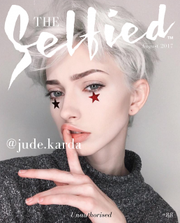 A selfie picture of Jude Karda, A non binary model and Instaframmer