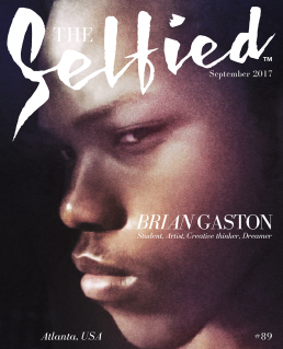 A selfie pic of Brian Gaston on the cover of The Selfied magazine