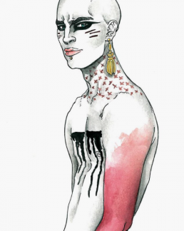 Illustration by Italian illustrator and graphic designer AN WI